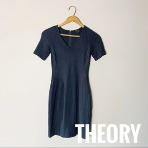 Navy blue, casual theory dress